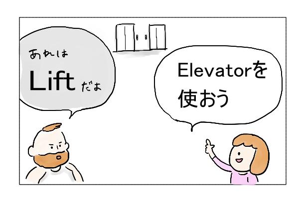 エレベーター英語
